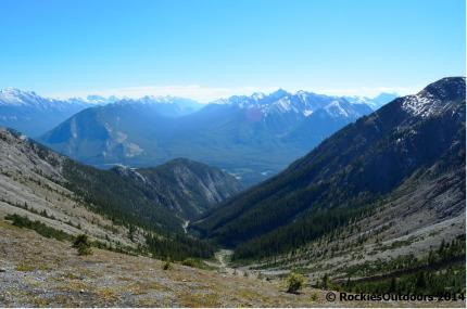 The view from Cory Pass back towards the Bow Valley