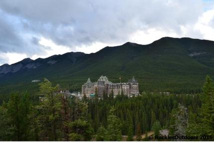 Banff Springs Hotel from the Surprise Corner Viewpoint
