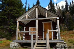 Floe Lake Warden Cabin Front
